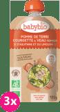 3x BABYBIO Kapsička pyré brambory a cuketa s telecím masem 120 g