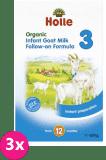 3x HOLLE Bio Kojenecká mléčná výživa na bázi kozího mléka 3, 400 g