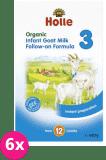 6x HOLLE Bio Kojenecká mléčná výživa na bázi kozího mléka 3, 400 g