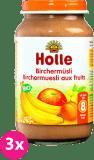 3x HOLLE Ovocné müsli – dětská ovocná přesnídávka, 220g