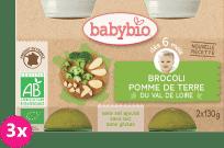 3x BABYBIO Brokuły i ziemniaki 6m+ (130 g)
