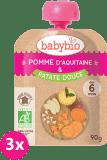 3x BABYBIO Kapsička jablko sladké zemiaky 90g – ovocný príkrm