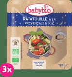 3x BABYBIO Příkrm Ratatouille po provensálsku s rýží 190 g – zeleninový příkrm