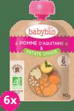 6x BABYBIO Kapsička jablko sladké brambory 90 g - ovocný příkrm