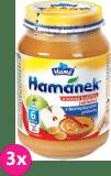 3x HAMÁNEK Kojenecká výživa ovocná kašička s bezlepkovými piškoty, (190 g) - ovocný příkrm