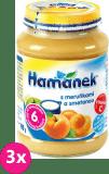 3x HAMÁNEK Kojenecká výživa ovocná Svačinka s meruňkou a smetanou, (190 g) - ovocný příkrm