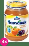 3x HAMÁNEK S meruňkami a švestkami, (190 g) - ovocný příkrm