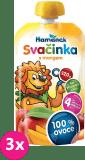 3x HAMÁNEK Svačinka 100% ovoce s mangem, (120 g) - ovocný příkrm