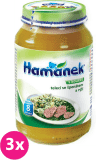 3x HAMÁNEK Telecí se špenátem a rýží (230 g) - maso-zeleninový příkrm