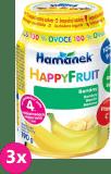 3x HAMÁNEK HappyFruit 100% S banánem, (190 g) - ovocný příkrm