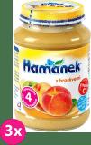 3x HAMÁNEK S broskvemi (190 g) - ovocný příkrm