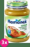 3x HAMÁNEK Babiččino kuře se zeleninou a rýží (190 g) - maso-zeleninový příkrm