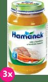 3x HAMÁNEK Rýže s karotkou a hovězími kousky (230 g) - maso-zeleninový příkrm
