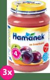 3x HAMÁNEK Se švestkami (190 g) - ovocný příkrm