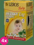 4x LEROS BABY dětský čaj bylinný 20x1,8g