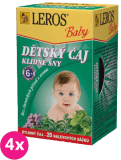 4x LEROS BABY detský čaj pre pokojné sny 20x1,5g