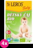 4x LEROS BABY BIO detský čaj bylinkový 20x2g