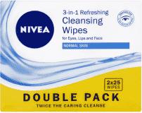 NIVEA Osvěžující pleťové urousky pro normální a smíšenou pleť Duopack 2x25 ks