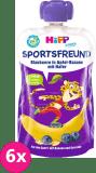 6x HIPP HiPPiS BIO Sport Jablko-Banán-Borůvky-Oves 120 g – ovocný příkrm