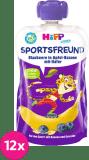 12x HIPP HiPPiS BIO Sport Jablko-Banán-Borůvky-Oves 120 g – ovocný příkrm