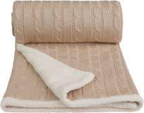 T-TOMI Pletená deka WINTER, béžová