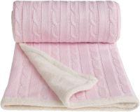 T-TOMI Pletená deka WINTER, ružová