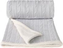 T-TOMI Pletená deka WINTER, šedá