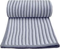 T-TOMI Pletená deka, bielo-šedá