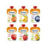 SUNAR Cool ovoce ochutnávkové balení (6x120 g)– ovocný příkrm
