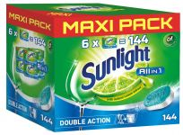 SUNLIGHT All in One Regular MAXI PACK 144 szt. – tabletki do zmywarki