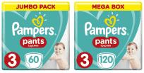PAMPERS Pants 3 Active Baby Dry 180 szt. (6-11 kg) ZAPAS NA MIESIĄC – pieluchomajtki