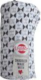 LODGER Ręcznik wielofunkcyjny Swaddler Limited (120x120 cm) – Triangle Print Black/White