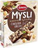 EMCO Mysli Ovsená tyčinka - Čokoláda a orechy 3x45 g