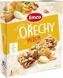 EMCO Tyčinka Orechy a med 3x35 g