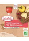 BABYBIO Jablko malina (4x 90 g) - ovocný příkrm
