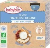 BABYBIO Deserek mleczny malina banan 4x85 g