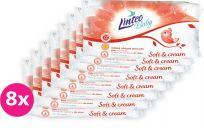 8x LINTEO Baby vlhčené ubrousky Soft & Cream 72 ks