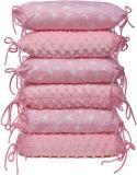 T-TOMI Ochraniacz do łóżeczka poduszkowy – pink/stars