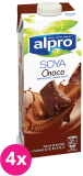 4x ALPRO Sójový nápoj Čokoládový 1 L