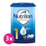 3x NUTRILON 1 Počiatočné dojčenské mlieko 800 g, 0+