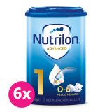 6x NUTRILON 1 Počiatočné dojčenské mlieko 800 g, 0+
