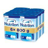 6 x NUTRILON 1 Počáteční kojenecké mléko 800 g, 0+