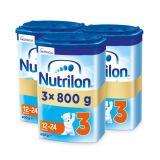 3 x NUTRILON 3 Batolecí mléko 800 g, 12+