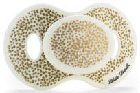 ELODIE DETAILS Dudlík Newborn silikonový 0-6m – Gold Shimmer