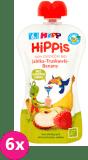 6x HiPP BIO HiPPiS Jabłka-Truskawki-Banany Mus owocowy po 6. miesiącu 100 g