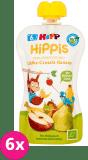 6x HiPP BIO HiPPiS Jabłka-Gruszki-Banany Mus owocowy po 6. miesiącu 100 g