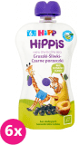 6x HiPP BIO HiPPiS Gruszki-Śliwki-Czarne porzeczki Mus owocowy po 6. miesiącu 100 g