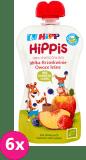 6x HiPP BIO HiPPiS Jabłka-Brzoskwinie-Owoce leśne Mus owocowy po 6. miesiącu 100 g