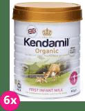 6x KENDAMIL 100% BIO/organické plnotučné kojenecké mléko 1 (800g)
