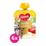 6x HAMI Ovocná kapsička Banán a jablíčko 90 g